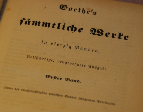 Goethe Collected Works 1853