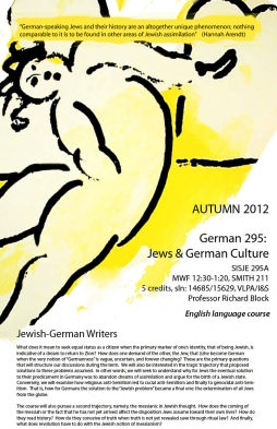 GERMAN 295 course poster, Autumn 2012