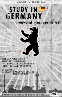 Berlin Study Abroad poster