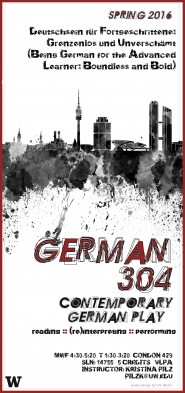 German 304 course poster