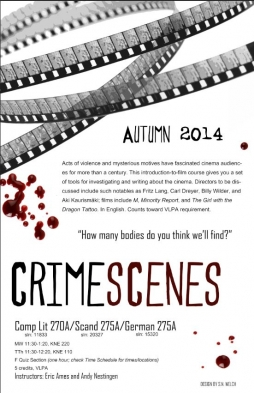 Crime Scenes German course poster
