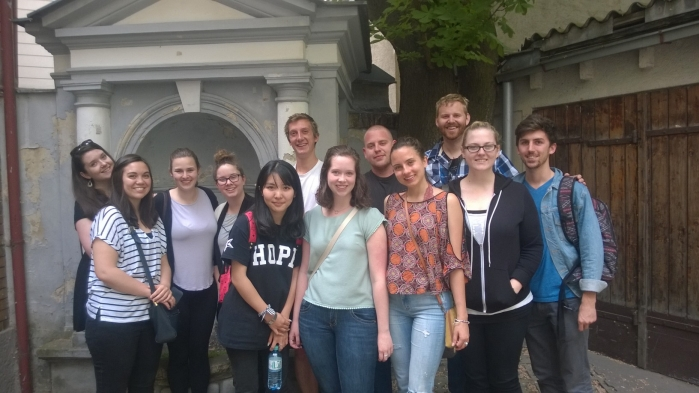 SiV 2015 students at Freud Museum