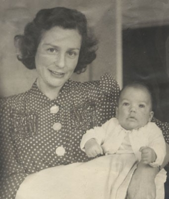 Hilde Bial-Neurath with son Peter