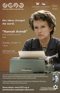 Arendt film screening poster