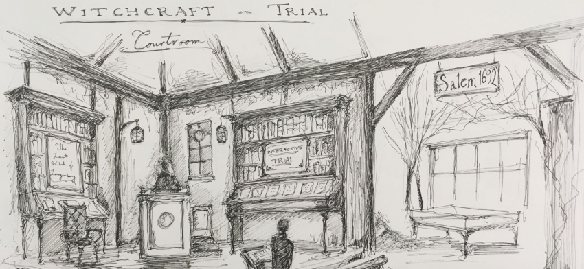 Museum project drawing by Eli Noble Pasco