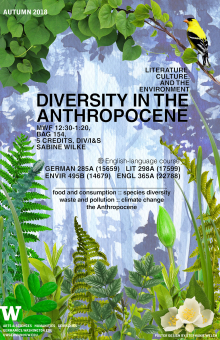 Aut 2018 Diversity in the Anthropocene course poster