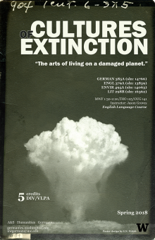 Cultures of Extinction course poster UW Seattle