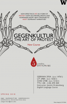 Gegenkultur: The Art of Protest course poster UW Seattle