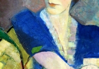detail of painting by Edith London
