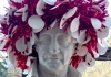 Goethe bust wears wreath for UW Germanics holiday event
